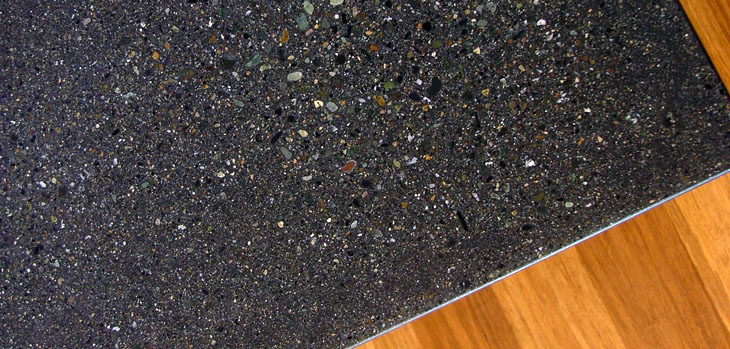 Lee Edwards   Residential Design   Modern Details   Dark Concrete Counter  With Exposed Aggregate Finish
