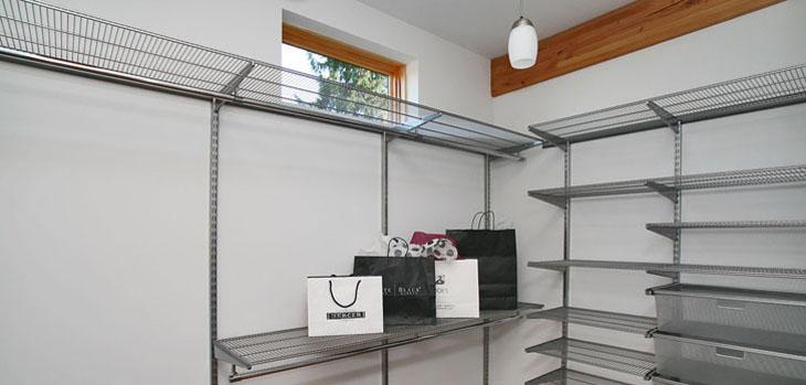 elfa closet system modern bedroom